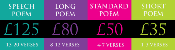 price list 2017 - custom poems and personalised verses