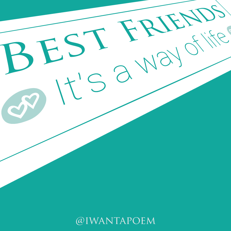 best friends quote - poems and quotes by Amy @iwantapoem