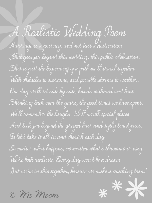 Realistic Wedding Poem Ms Moem Aka Amy Iwantapoem