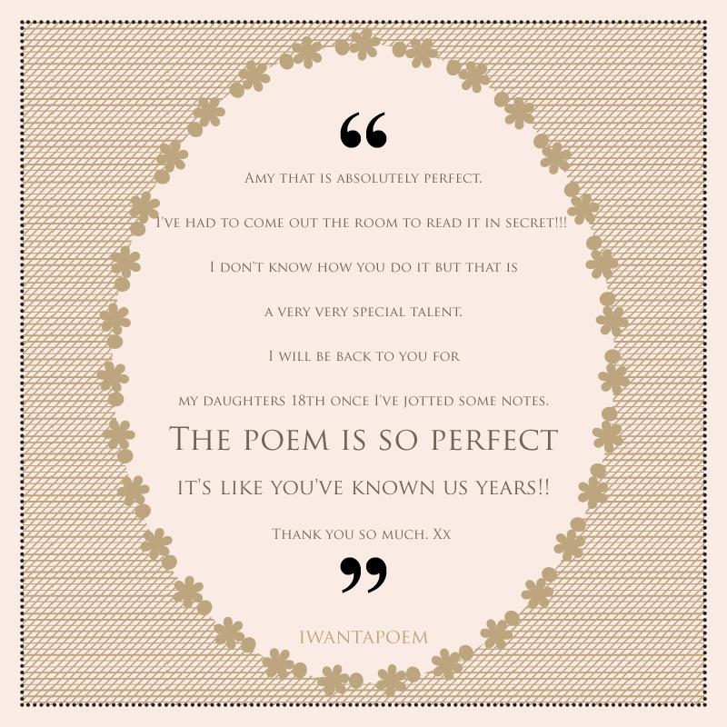 best personalised wedding poem review