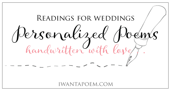 Poems For Children To Read At Weddings: Personalised Poems