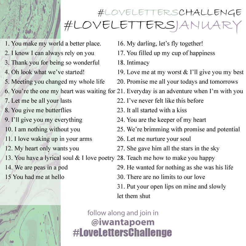 love letters lettering and calligraphy challenge january 2016