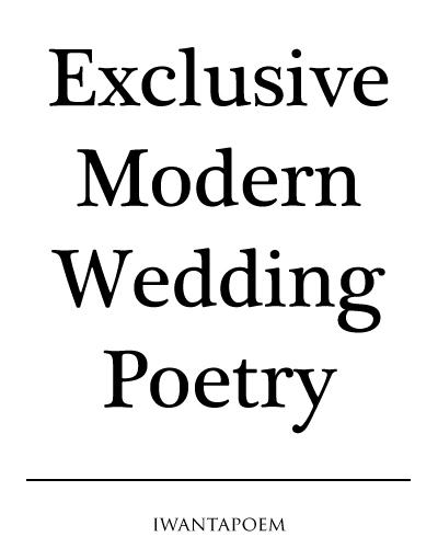 buy exclusive custom modern wedding poems, poetry and verse - iwantapoem