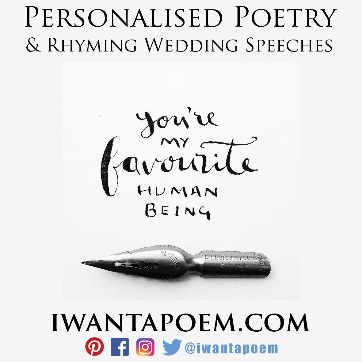 international custom poetry service - personalized poems by Amy @IWantAPoem